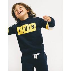 'FUN' TRACKSUIT FOR BOYS, DARK BLUE