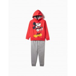 'MICKEY', RED AND GRAY TRACKSUIT FOR BOYS