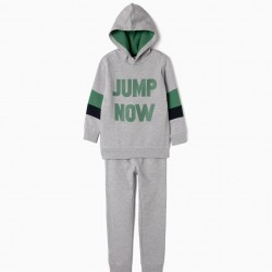 'JUMP NOW' TRACKSUIT FOR BOYS, GRAY