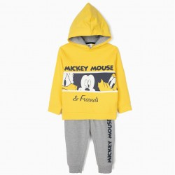 'MICKEY & FRIENDS' TRACKSUIT FOR BOYS, YELLOW AND GRAY