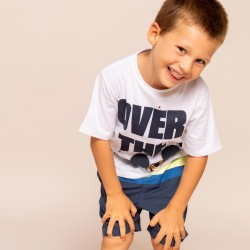 'MICKEY MOON' T-SHIRT FOR BOY, WHITE