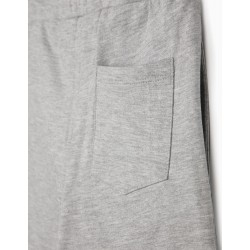 'MICKEY' TRAINING SHORTS FOR BOYS, GRAY