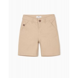 BOYS' CHINO SHORTS, BEIGE
