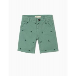 PALM TREE BOY SHORTS, GREEN