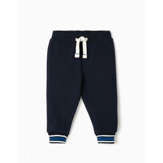 BABY BOY TRACK PANTS, DARK BLUE