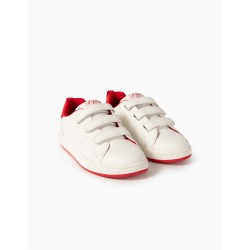 CHILDREN'S SHOES 'ZY 1996', WHITE / RED