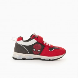 'SPIDER-MAN' BOY'S LIGHTING SHOES, RED/GREY