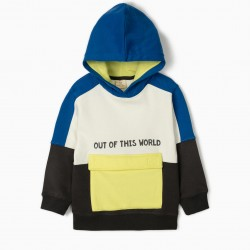 OUT OF THIS WORLD HOODED SWEATSHIRT FOR BOYS, MULTICOLOR