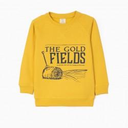 'GOLD FIELDS' BOY'S SWEATSHIRT, YELLOW