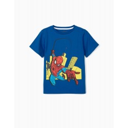 SPIDER-MAN T-SHIRT FOR BOYS, BLUE
