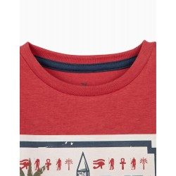 T-SHIRT FOR BOYS 'LIKE A REAL ASTRONAUT', WHITE