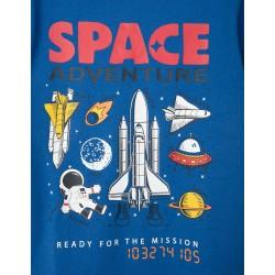 T-SHIRT FOR BOY 'SPACE ADVENTURE', BLUE