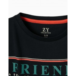 T-SHIRT FOR BOY 'FRIENDS', DARK BLUE