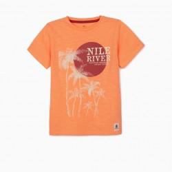 'NILE RIVER' BOY'S T-SHIRT, ORANGE