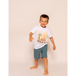 T-SHIRT FOR BOYS 'STORIES ABOUT EGYPT', WHITE