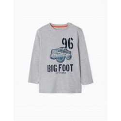 'BIG FOOT' BOY'S LONG SLEEVE T-SHIRT, GRAY