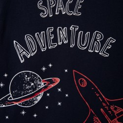 2 SPACE PAJAMAS FOR BOYS, GRAY / BLUE / RED
