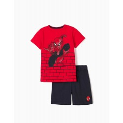 BOYS 'SPIDER-MAN' PAJAMA, RED / DARK BLUE