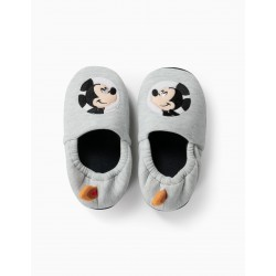 HOUSE SLIPPERS FOR BOYS 'MICKEY ASTRONAUT', GRAY
