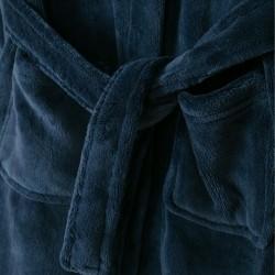 DARK BLUE HOODED ROBE