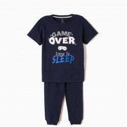 GAME OVER SHORT SLEEVE PAJAMAS AND PANTS