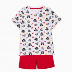 PAJAMAS FOR BOYS 'MICKEY & DONALD', WHITE AND RED