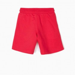 BOYS' SPORTS SHORT 'LET'S DO THIS', RED