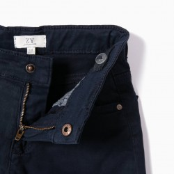 BOYS' SHORTS, DARK BLUE