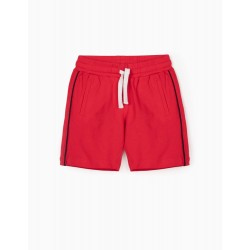 PIQUÉ SPORTS SHORTS FOR BOYS, RED