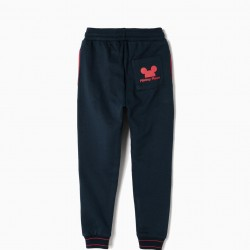 'MICKEY' TRAINING PANTS FOR BOYS, DARK BLUE
