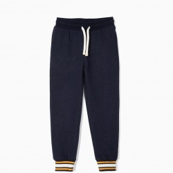BOYS' TRAINING PANTS, DARK BLUE