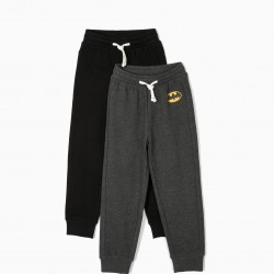 2 TRAINING PANTS FOR BOYS 'BATMAN', BLACK AND GRAY