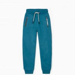 'LET'S CRUSH IT' BOY'S TRACK PANTS, BLUE