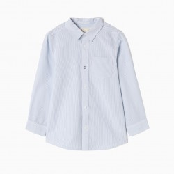 LONG SLEEVE SHIRT FOR BOYS 'STRIPES', BLUE AND WHITE