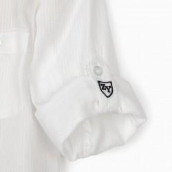 BOY COLLAR SHIRT, WHITE