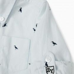 BABY BOY 'BIRDS' SHIRT, BLUE