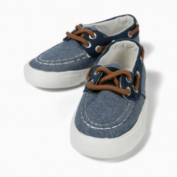 BABY BOY'S KNIT SHOES, BLUE