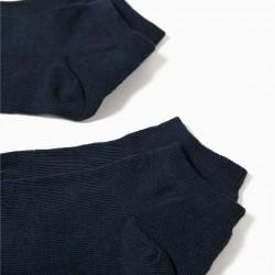 PACK 2 PAIRS OF BLUE SHORT SOCKS