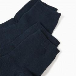 PACK 2 PAIRS OF BLUE SOCKS
