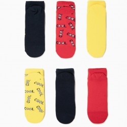 6 PAIRS OF SOCKS FOR BOYS 'COOL', MULTICOLOR