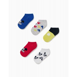 5 PAIRS OF ANKLE SOCKS FOR BOYS, 'MICKEY MOUSE', MULTICOLOURED