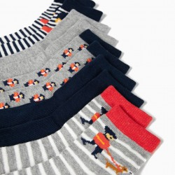 5 PAIRS OF SOCKS FOR BOYS 'ROYAL GUARDS', MULTICOLOR
