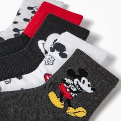 5 PAIRS OF BOY SOCKS 'MICKEY', MULTICOLOR