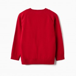 BOY'S KNITTED SWEATER, RED