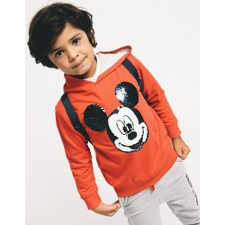 HOODED SWEATSHIRT FOR BOYS 'MICKEY', RED