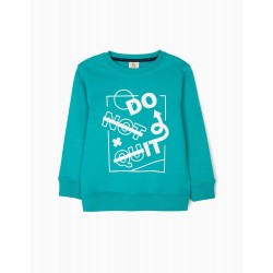 'DO IT' SWEATSHIRT, BLUE-GREEN