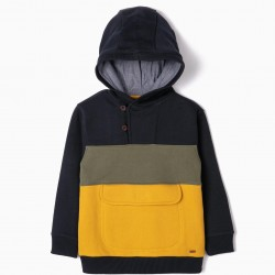 B&S HOODED SWEATSHIRT FOR BOYS, MULTICOLOR