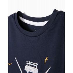 T-SHIRT FOR BOY 'SURF ZONE', DARK BLUE