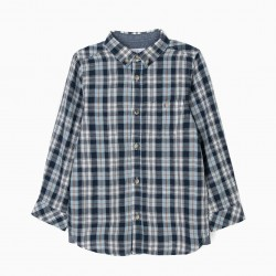 CHECKERED BOY SHIRT, BLUE