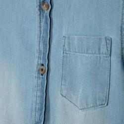BOY'S DENIM SHIRT, LIGHT BLUE
